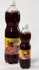 """""""Квасной напиток"""" Лидер продаж. Приготовлен на основе артезианской воды. Обладает характерным вкусом и ароматом хлебного кваса. Напиток освежает, бодрит, утоляет жажду."""